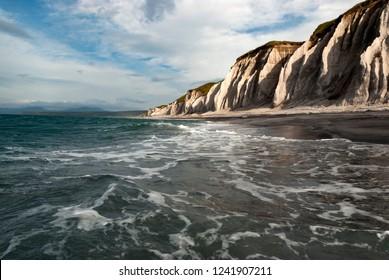 The white rocks, Prostor bay, Iturup island, Kuril islands, Russia - Shutterstock ID 1241907211