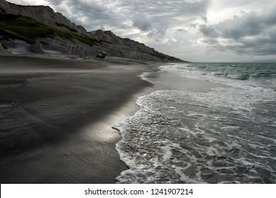 The white rocks, Prostor bay, Iturup island, Kuril islands, Russia - Shutterstock ID 1241907214