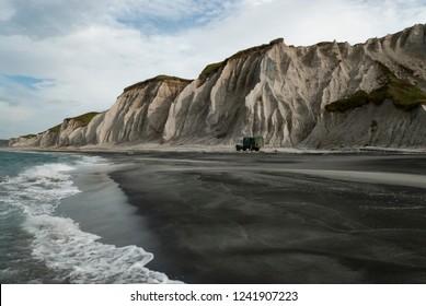 The white rocks, Prostor bay, Iturup island, Kuril islands, Russia - Shutterstock ID 1241907223