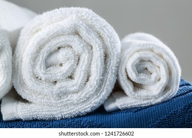 White Rolled Towels
