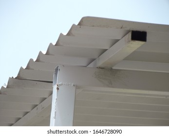 a white roof of a house