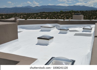 white roof with sky