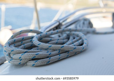 White rope on the boat