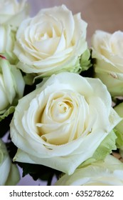 White roses bouquet White flowers Gift to a woman Holiday bridal bouquet Floral background