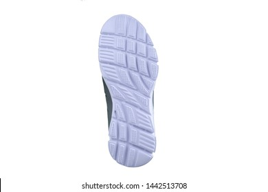 White rubber sole with sneakers on a white background.