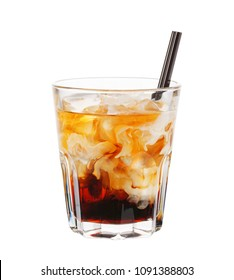 White Russian. Alcohol cocktail isolated on white background