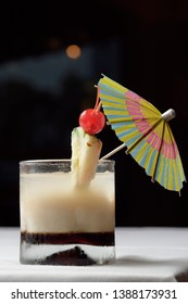 A White Russian is a cocktail made with vodka, coffee liqueur and cream served with ice in an Old Fashioned glass. Often milk or half and half will be used as an alternative to cream.