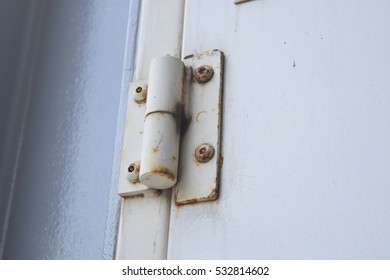 White Rusted Door Hinge