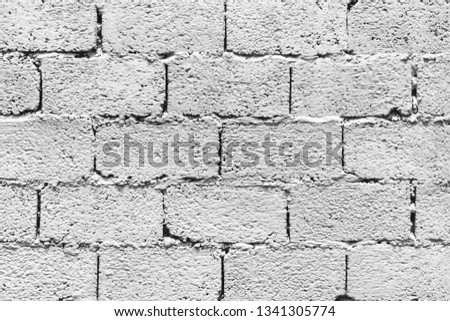 White Rustic Bricks Wall