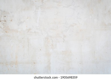 White rustic concrete texture background. Grunge of weathered painted concrete wall