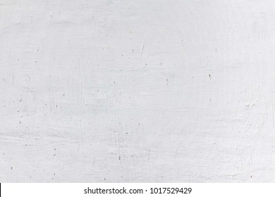 White Rustic Texture. Retro Whitewashed Old Brick Wall Surface. Vintage Structure. Grungy Shabby Uneven Painted Plaster. Whiten Facade Background. Design Element. Abstract Light White
