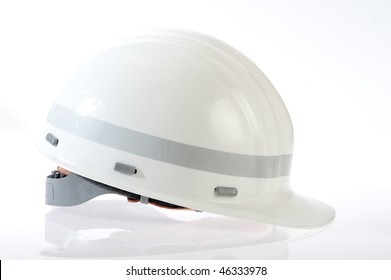 white safety helmet for employees