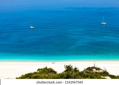White sand beach by the turquoise sea
