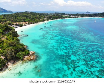 White Sand Beach and clear water. In the summer of Koh Lipe Thailand.