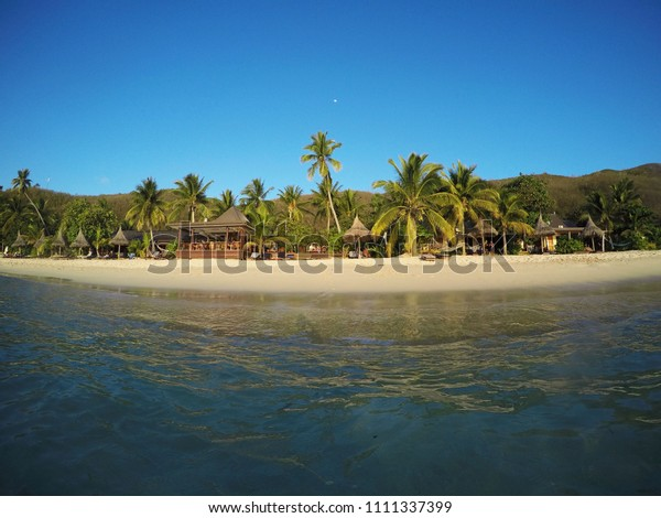 White Sand Beach Fiji Islands Pacific Stock Photo Edit Now