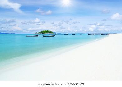 White sand beach at Koh Lipe, Thailad