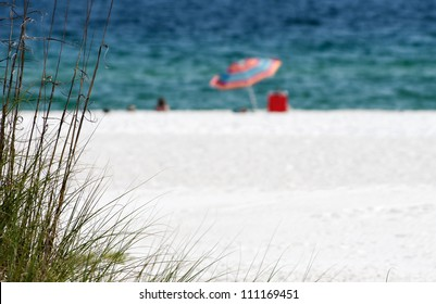 The white sand beach on the Alabama gulf coast.