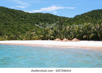 The white sand beach on the Cu Lao Cham Marine Park (also known as Cham Islands Biosphere Reserve) near Hoi An, Vietnam