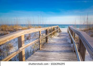 White Sand Beach Pensacola Boardwalk
