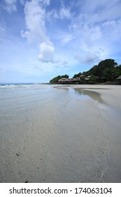 White sand and clear water