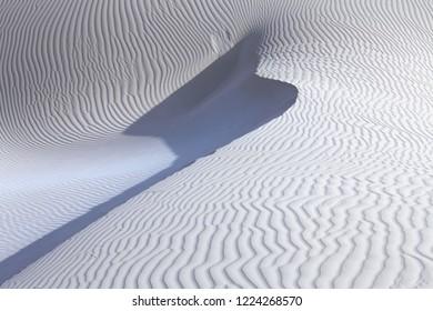 White sand desert dunes of Socotra island