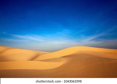 White Sand Dune, Desert in Mui Ne, Vietnam