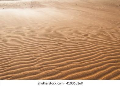 White sand dune. It is top destination in Mui Ne. Vietnam