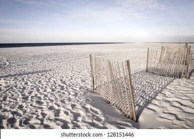 White sand dunes of Alabama Gulf Shores