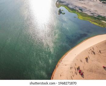 White Sand Dunes - bau sen, bau trang, it's one of best destinations near Mui Ne, Binh Thuan. Vietnam.