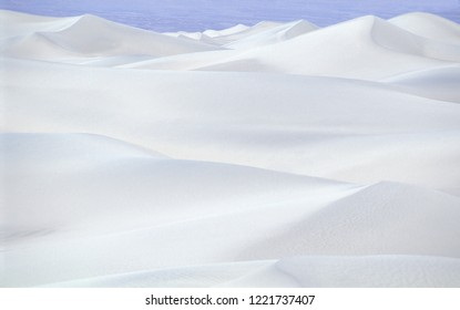 White sand dunes. Death Valley National Monument, California, USA.