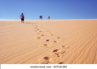 White Sand Dunes in Mui Ne, Phan Thiet, Vietnam. Popular tourist attraction