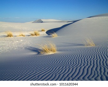 White Sand Dunes In New-Mexico USA