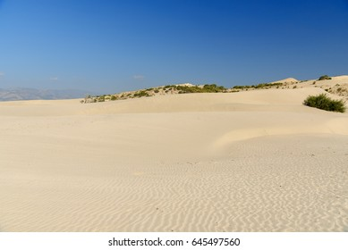 White Sand dunes at on Patara beach. Antalya Province. Turkey