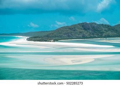 White sand at White heaven beach, Whitsunday island