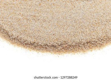 white sand isolated on white background for summer design and nature summer season background.