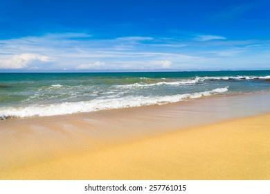 White Sand Shore Landscape