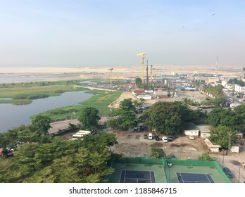 White sands of EKO Atlantic and construction ongoing