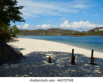 The White Sands of Morar - Turquoise Water and Groynes