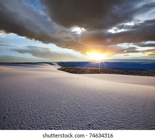 White Sands Park in USA at sunrise