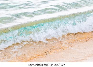 White sandy beach and clear sea in Amami Oshima, Kagoshima Prefecture, Japan