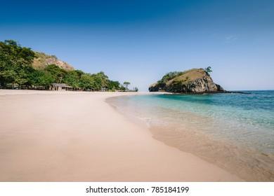 White sandy beach of Koka Beach, Flores, Indonesia