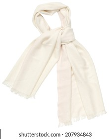 White scarf on white background, isolated