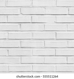 White seamless brick pattern wall
