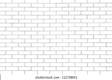 White seamless brickwall with repeating pattern