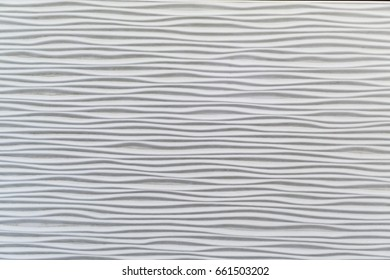 White seamless wave texture pattern. Wavy linen background. Interior wall decoration.