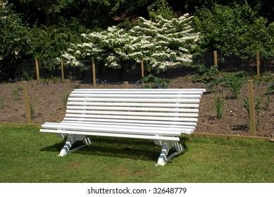 White seat/ bench