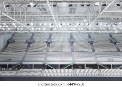 White seats in the large stadium