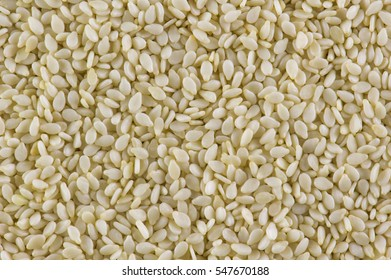 White sesame seeds  background