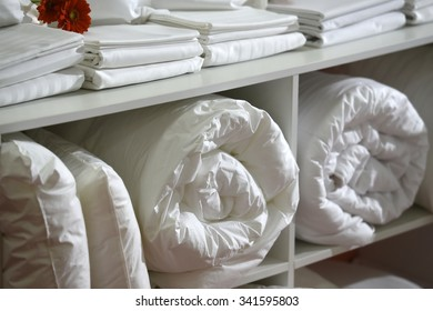 White set of bed sheets