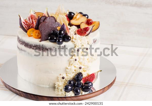 Strange White Shabby Chic Wedding Cake Topped Stock Photo Edit Now 242900131 Personalised Birthday Cards Cominlily Jamesorg